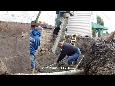 20171013 Pouring a cement basement