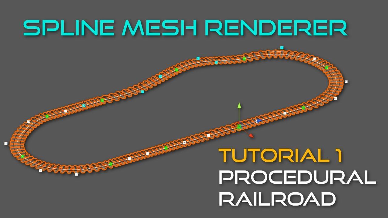 Spline Mesh Renderer v1 0 Tutorial 1 - Railroad (Unity 3D)