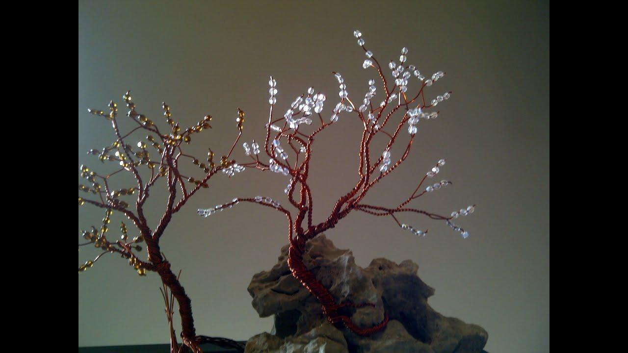 Aql como hacer arbol de alambre con abalorios youtube - Arbol de navidad de alambre ...