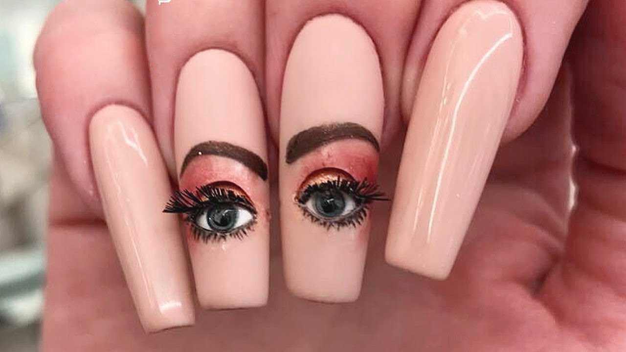 Amazing Eyeball Nail Art 2018   Best Nails Designs and Ideas      makeup  makeupartist  diy