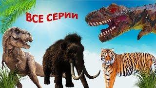 ЗАГАДОЧНАЯ ИСТОРИЯ ИСЧЕЗНОВЕНИЯ ВОЖАКА Все серии СБОРНИК мультиков про динозавров T REX в беде