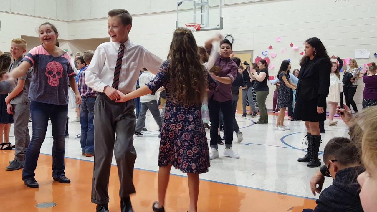 3cbad52f9736d Hailey and Jordan's 6th grade Valentine dance - YouTube