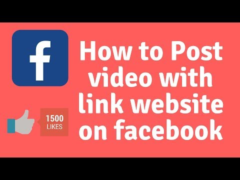 How to post video with link on Facebook Page