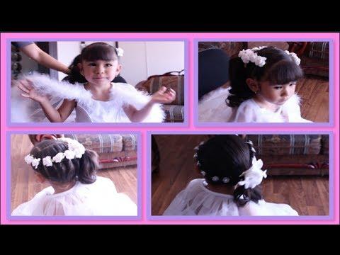 peinados para primera comunin bautizo o fiesta cabello recogido youtube