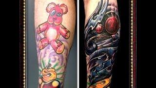 ✘✘✘ World's CRAZIEST Tattoo Cover ! Organic tattoo instead of a bear ✘✘✘ ⎌