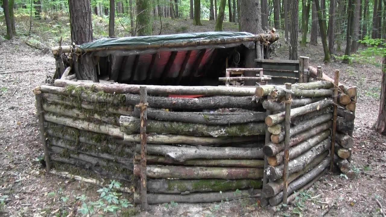 Building A Super Shelter In The Woods (Part 1)   YouTube