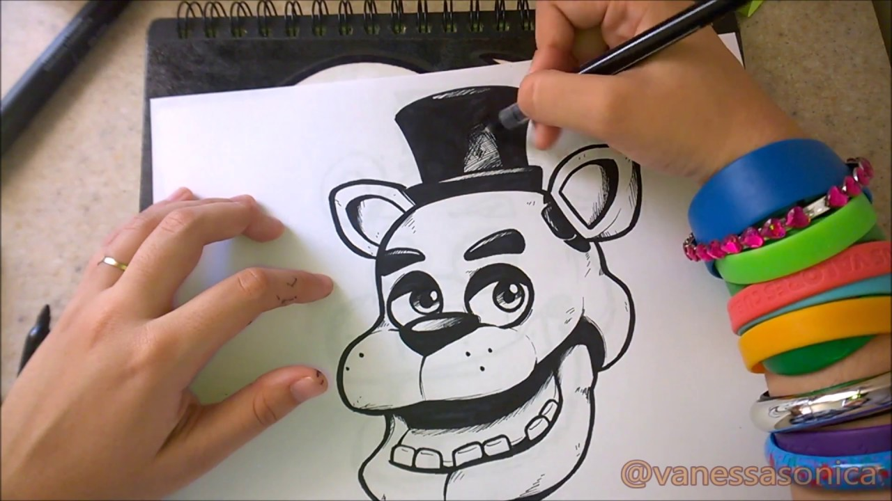 how to draw freddy fazbear youtube