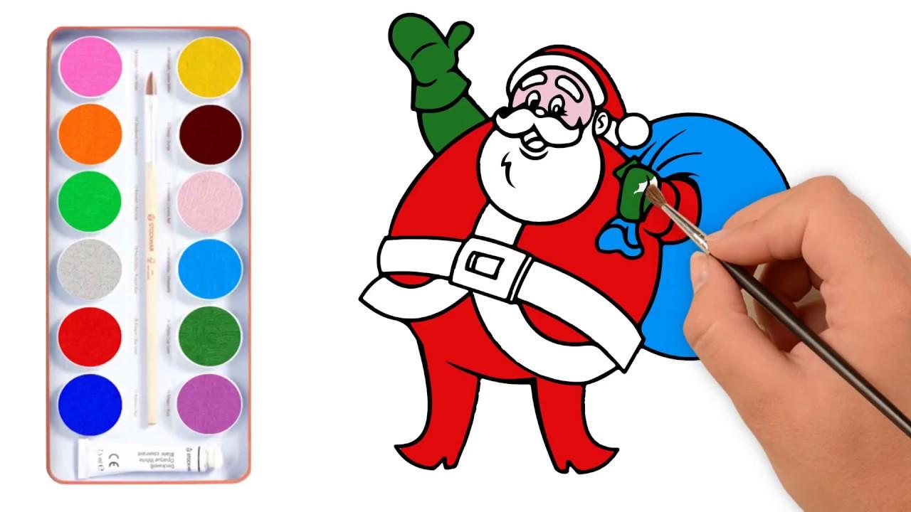 Art Hub For Kids Christmas How To Draw Cartoon Santa Claus - YouTube