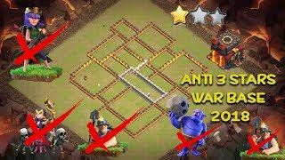 [#1 ClashOfClans] TH10 Anti 3 Stars WAR BASE 2018 / Anti Queen Walk/ Anti Bolwer Witch