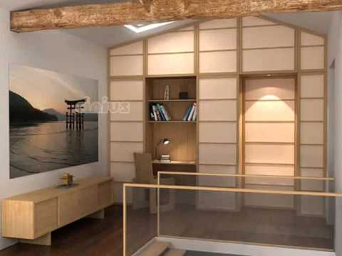 panneaux japonais porte coulissante youtube. Black Bedroom Furniture Sets. Home Design Ideas