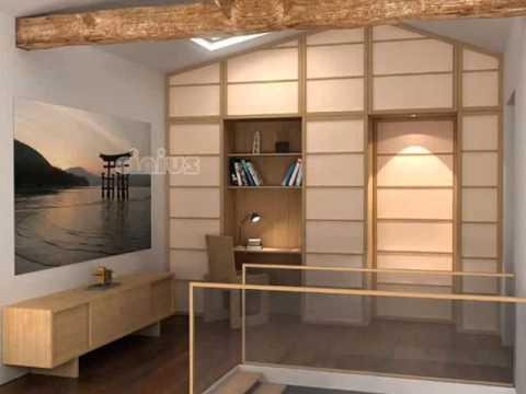 Panneaux japonais porte coulissante youtube - 3 portes coulissantes ...