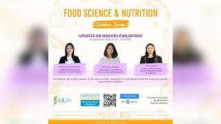 Updates on Sensory Evaluation - i3L Food Science and Nutrition Webinar Episode 2