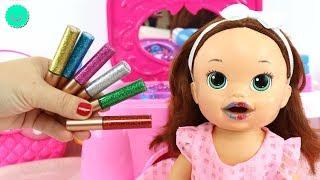🌈Arcoíris de 10 Pintalabios Purpurina para SARA Baby Alive muñeca viste de Princesa thumbnail