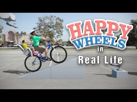 Live Action HAPPY WHEELS | Irresponsible Dad in Real Life