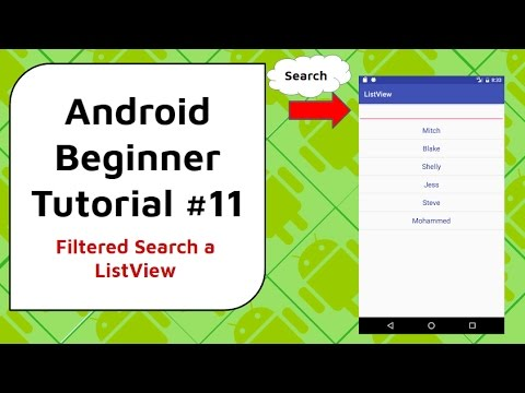 Android Beginner Tutorial #11 - ListView Filter and Search Bar