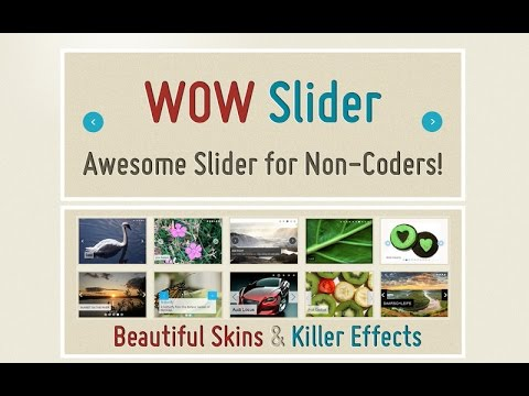 How to use WOW Slider