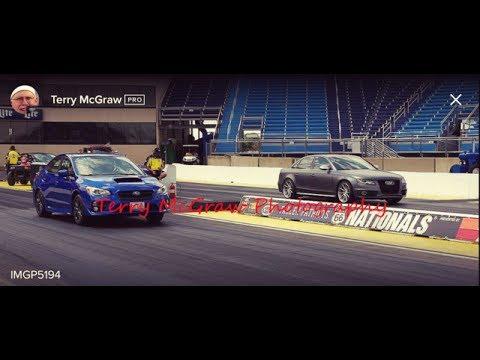 2015 Subaru WRX Map Stage 1 VS. 2015 Audi S4 Supercharged V6 at Route 66 Raceway Joliet, IL  7/15/17