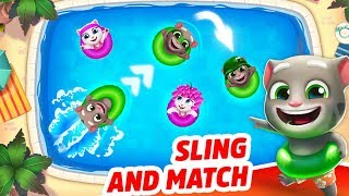 Talking Tom Pool - Puzzle Game - Outfit7 Limite d Level 198-201 Let's help them! Walkthrough