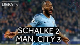 SCHALKE 2-3 MAN. CITY #UCL HIGHLIGHTS