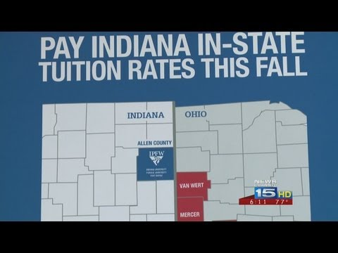 IPFW In-State Tuition for Ohio Counties