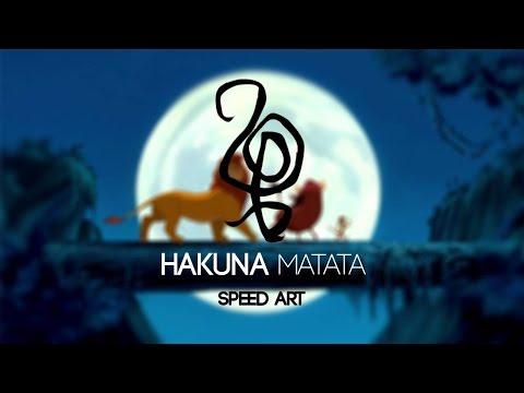 Hakuna Matata: Speed art