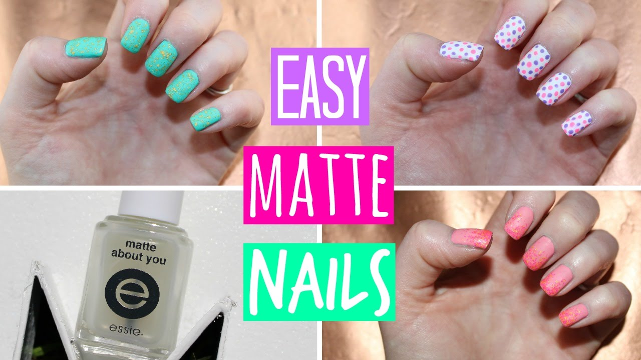 Matte Nail Polish Tutorial - 3 Easy Designs! - Matte Nail Polish Tutorial - 3 Easy Designs! - YouTube