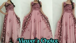 DIY| Convert Old Saree Into Long Gown In 15 Minutes/Reuse Saree/Evening Gown/Gown/How To Make Gown