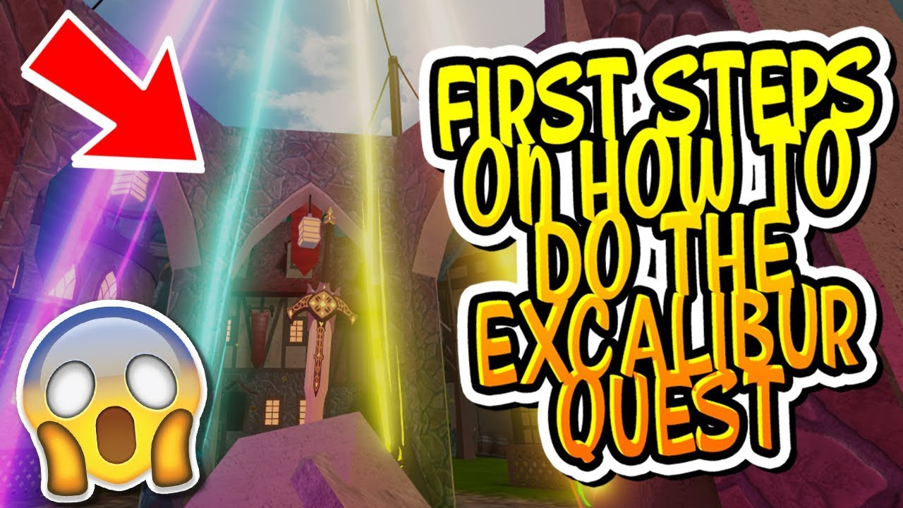 Dungeon Quest Roblox Tutorial How To Do The First Steps Of The Excalibur Quest In Dungeon Quest Roblox