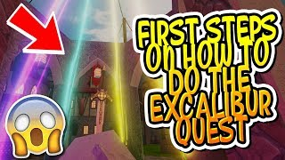 HOW TO DO THE FIRST STEPS OF THE EXCALIBUR QUEST IN DUNGEON QUEST!! (Roblox)