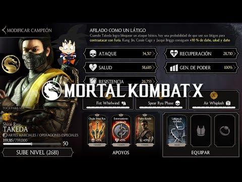 Mortal Kombat X Android Level Up / Subiendo de Nivel Takeda Shirai Ryu