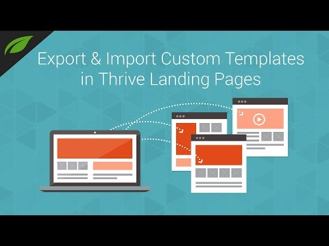 Import and Export Landing Pages in Thrive Architect