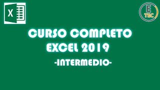 CURSO EXCEL 2019  INTERMEDIO
