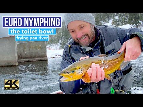 EURO NYMPHING THE TOILET BOWL ... At The Frying Pan River...Basalt Colorado (Winter 4k Fly Fishing)