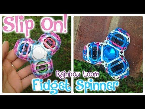 Slip On- Rainbow Loom Fidget Spinner #3