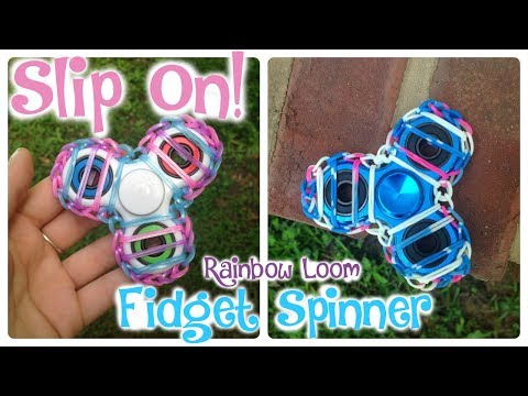 Slip On- Rainbow Loom Fidget Spinner #3