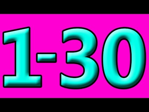 Simple Learning to Count to 30 Counting 1 to 30 Numbers for Kids Toddlers Preschool Children