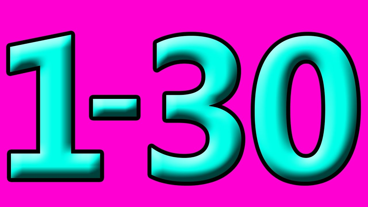 30 number images for kids