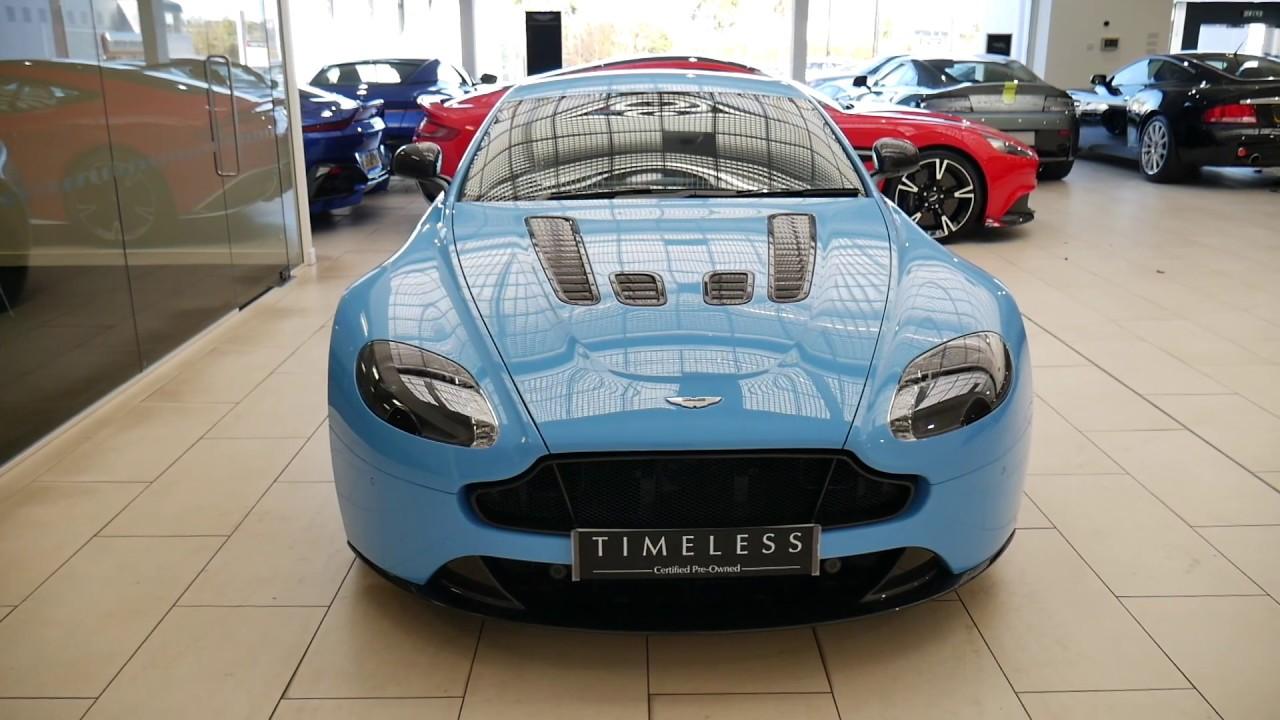 Aston Martin Edinburgh Flugplatz Blue Vantage S V12 Youtube