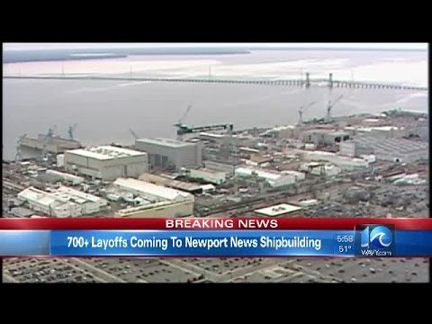 Union: Newport News Shipbuilding to lay off 700 hourly workers