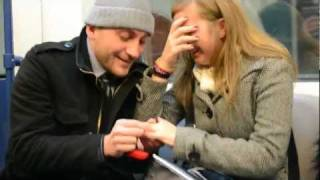 BEST Marriage Proposal in Subway EVER!!,  Bulgaria 2012