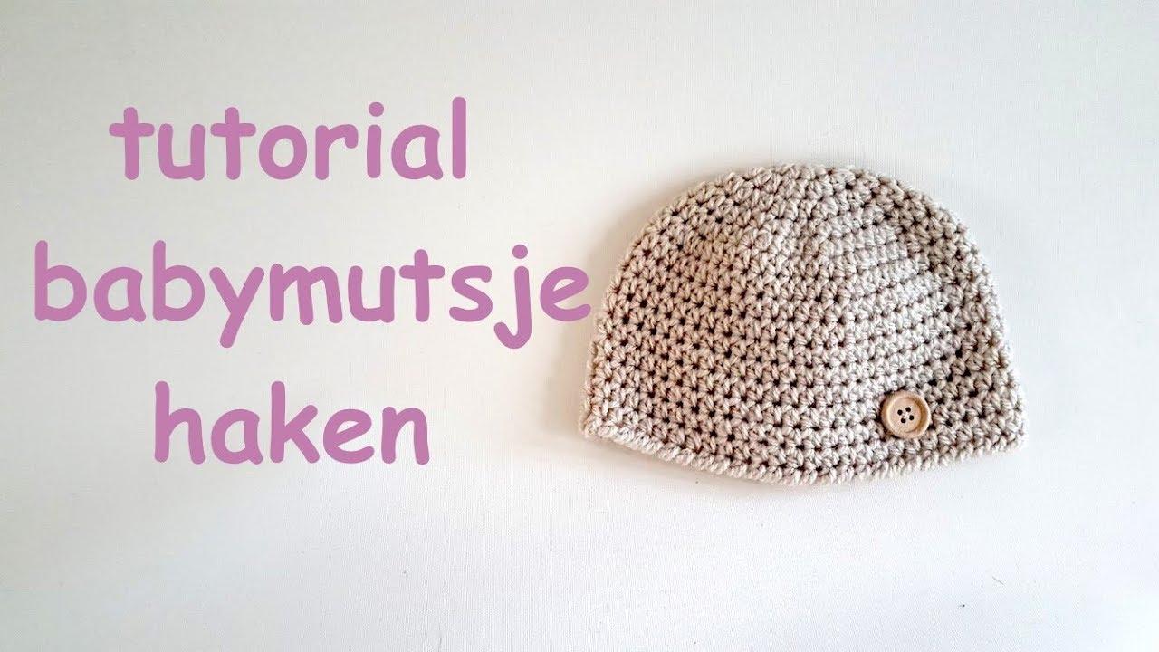 Populair haak tutorial baby mutsje // crochet newborn baby hat - YouTube #PR06