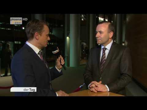 Wahl des neuen EU-Parlamentspräsidenten: Interview mit Manfred Weber am 17.01.2017