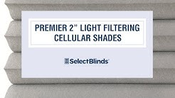 "Premier 2"" Light Filtering Cellular Shades from Select Blinds"