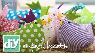 Frühlingshafte Osterhühner selber nähen | DIY einfach kreativ