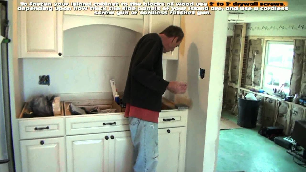How to install a kitchen island youtube for Kitchen installation