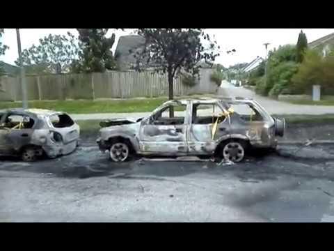 29-05-2017 Car burning in Sweden - aftermath.
