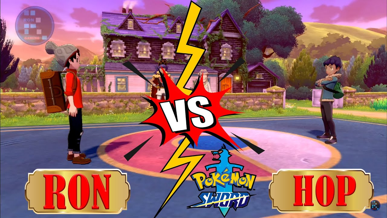 RON And HOP Fight Together In Front Of Professor | Pokemon Sword And Shield