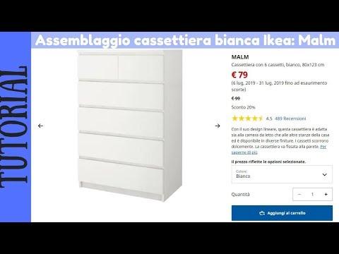Ikea Malm Cassettiera 6 Cassetti.Tutorial Montaggio Cassettiera Ikea Malm Bianca Con 6 Cassetti