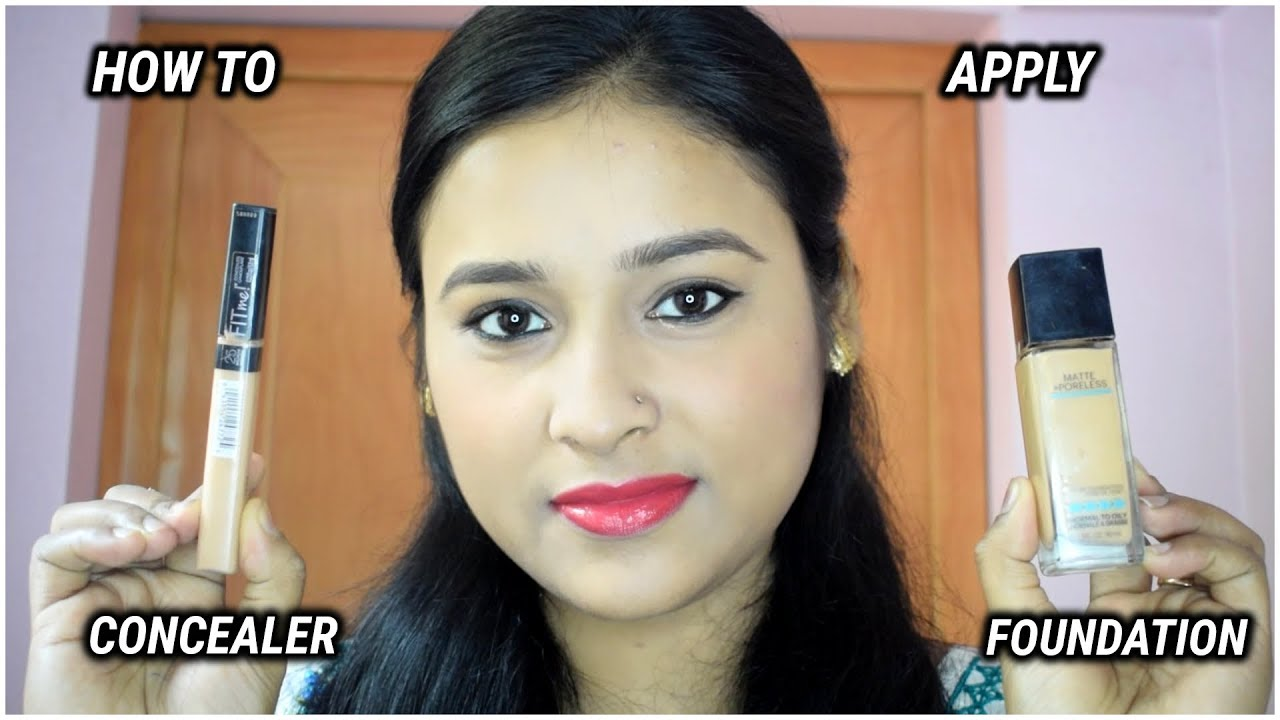 how to choose your concealer and foundation