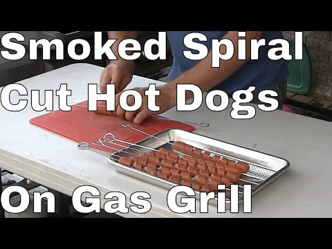 Smoked Spiral Hot Dogs Gas Grill – Saturday Cook – Whisky And BBQ